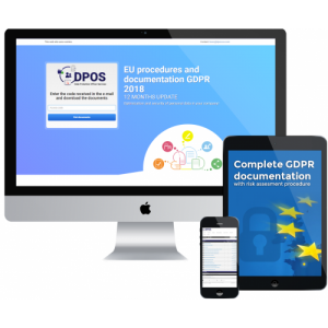 Complete GDPR documentation witch risk assessment procedure - 149 PLN  - (39 USD)