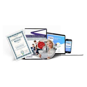 PAKIET RODO (APLIKACJA + CD): KOMPLEKSOWA DOKUMENTACJA RODO + E-SZKOLENIE Z CERTYFIKACJĄ 5 OSÓB  - 99 zł + 23% VAT