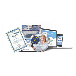 Biura rachunkowe - Pakiet RODO:  Dokumentacja + E-szkolenie z Certyfikacją 5 osób + Rejestry  Czynności + Consulting  - 59 zł +23% VAT