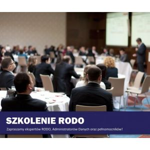 Szkolenie RODO - Warszawa 20 stycznia 2020  -  z pakietem dokumentacji + konsulting + e-szkolenie 10 osób - 199 zł +23% VAT